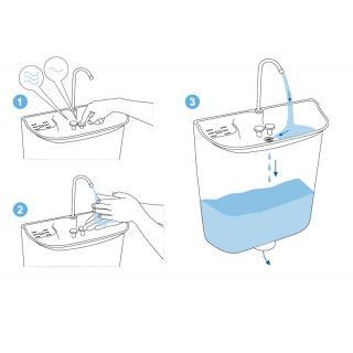 Úsporný WC splachovač s umyvadlem AQUAdue GrandesYs obr.6