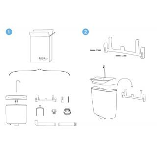 Úsporný WC splachovač s umyvadlem AQUAdue GrandesYs obr.7