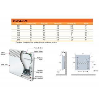 Klasický nástenný elektrický konvektor Ecoflex TAC 07 obr.2