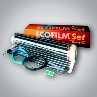 Topná elektrická folie Ecofilm set ES 80-1,0x 1,5m / 117 W