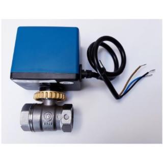 """Kulový ventil na pitnou vodu Giacomini R250D 1"""" se servopohonem ZV Lufberg 24V"""